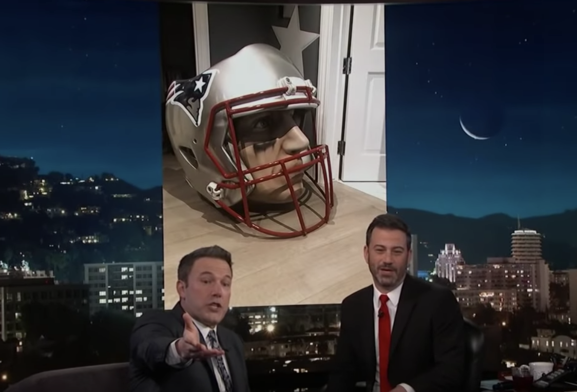 Then we have this chair that's Tom Brady's head.