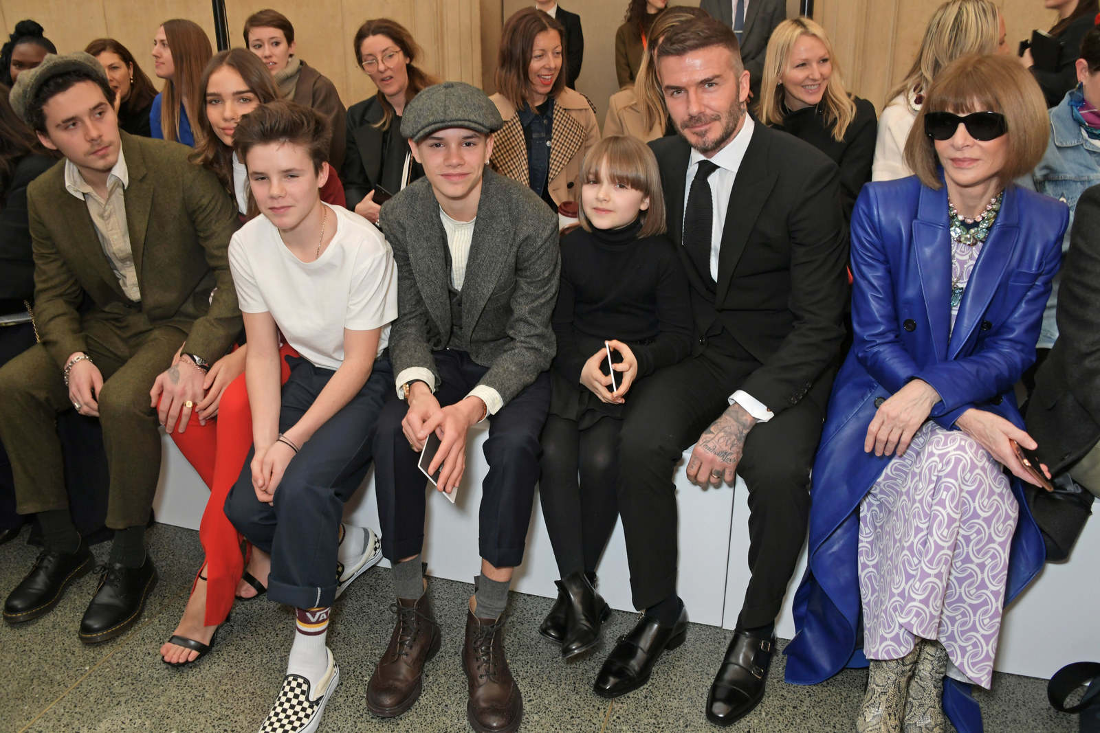 ...as was the entire Beckham fam!