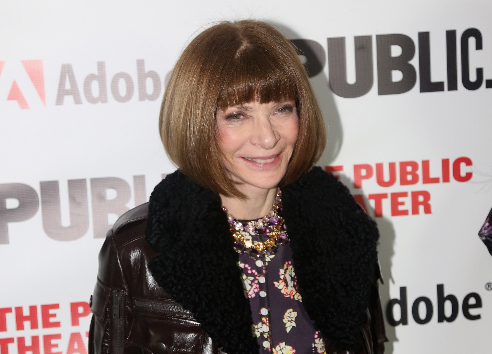 Let's cut to the chase: This is Anna Wintour, the famed editor of Vogue.