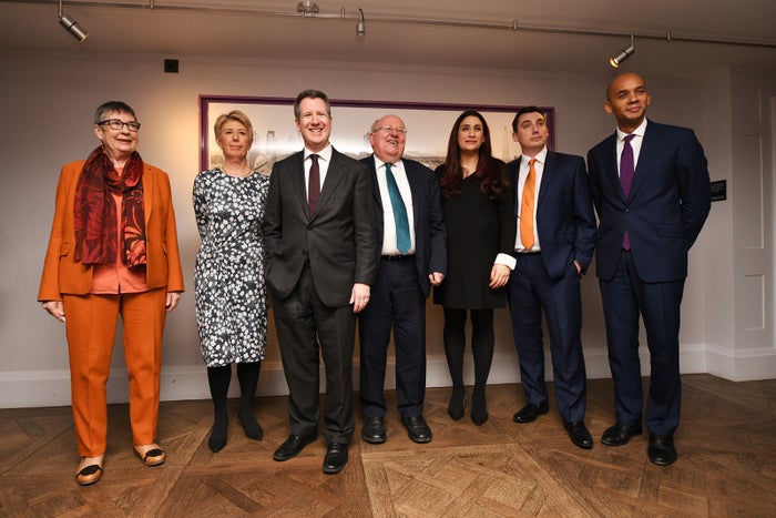 Former Labour MPs Anne Coffey, Angela Smith, Chris Leslie, Mike Gapes, Luciana Berger, Gavin Shuker and Chuka Umunna, who quit the party to form an independent grouping on Monday.