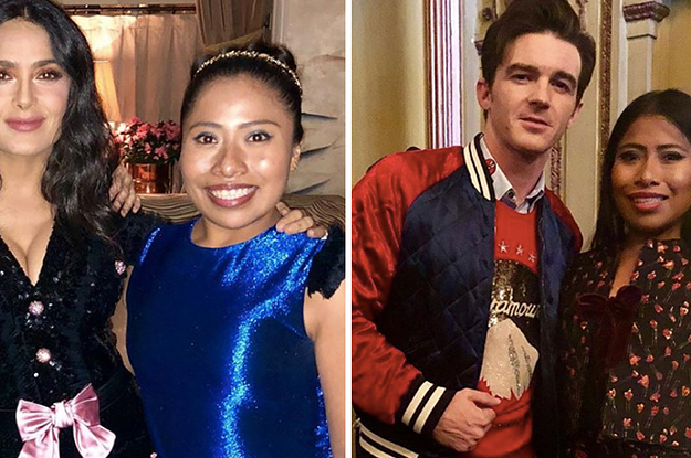 """Just 19 Photos Of """"Roma"""" Star Yalitza Aparicio Hanging Out With Your Fave Celebrities"""