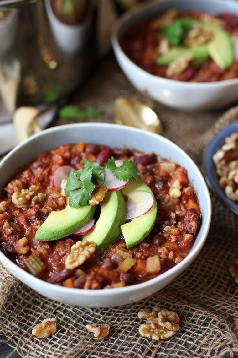 The secret ingredient in this creative vegan chili? Dark chocolate. Get the recipe here.