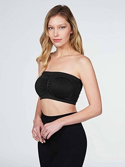 e2b570d3b9 A tube top bra with removable pads to comfortably wear with your favorite  sheer tops and blouses.