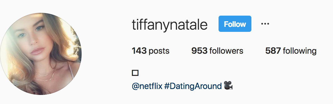 Our social media stalking is inconclusive because Tiffany's profile is private.