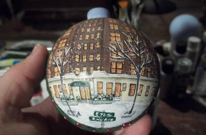 A Custom Hand Painted Ornament Forward Thinking Gift To Get Them Now So They Ll Have Personalized Portrait Of The Exterior Their Apartment Building