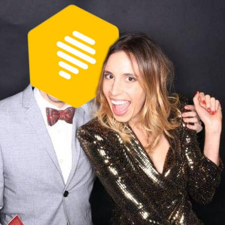 ^^ That's me and my friend with the Bumble logo photoshopped over his head.