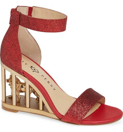 20ca6cce681 And epic wedge sandals with an actual caged lion in the heel that ll make  you feel freakin  fierce. Nordstrom