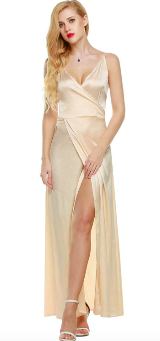 c4ad57c38d14 A silky crossover gown you're gonna want to wear (cross)over and over  again. Amazon ...