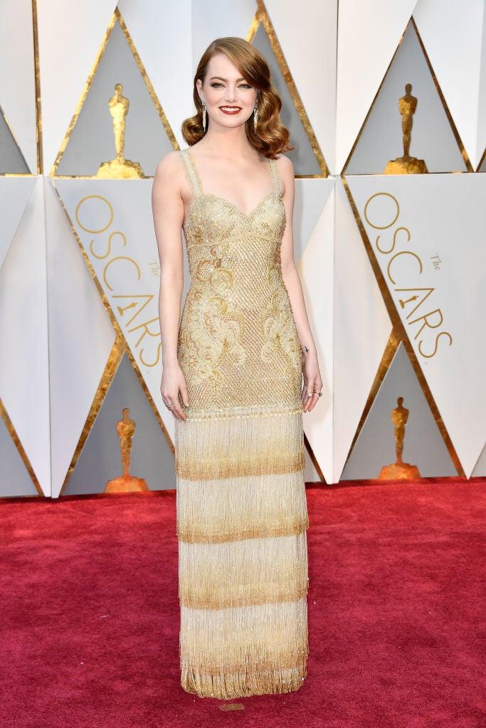 What she won for: La La LandWho designed the dress: Givenchy