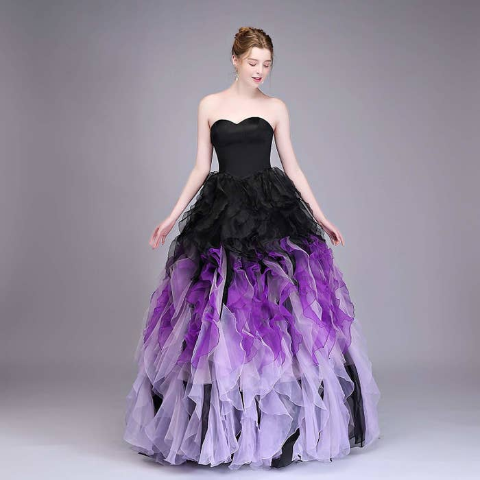 1b0187fb6a8 10. An ombre organza gown in black and purple — now that Cardi B has  blessed us with the era of Ursula-chic fashion statements