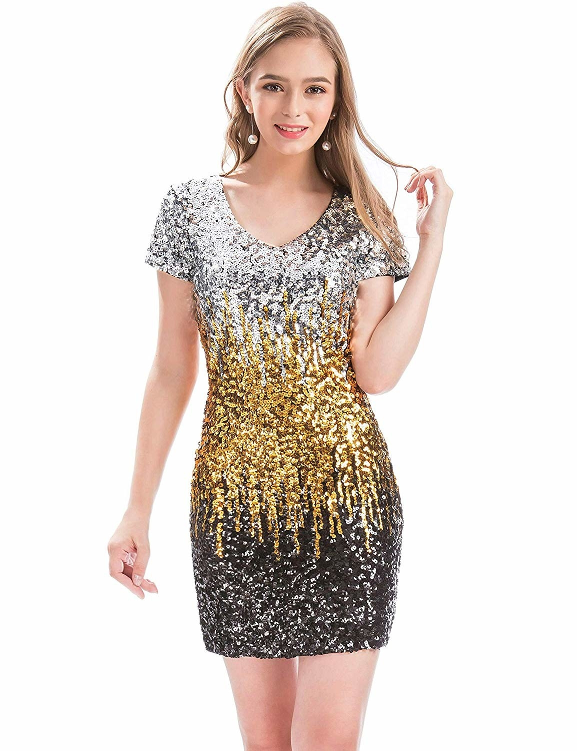 d1026280 Or a sequined mini dress that'll make you say,