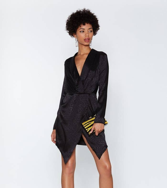 b270934b15d A leopard wrap dress you should pounce on while you still can. Get it from Nasty  Gal ...
