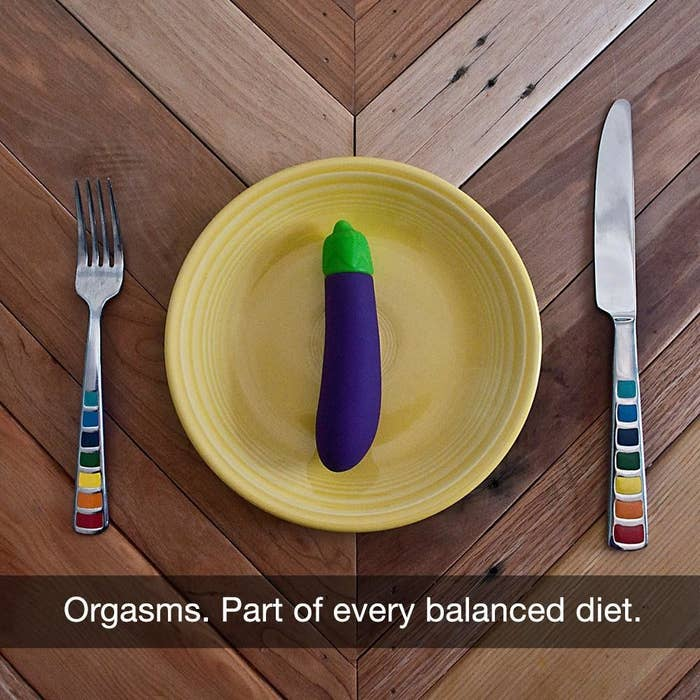 vibrator shaped like purple eggplant