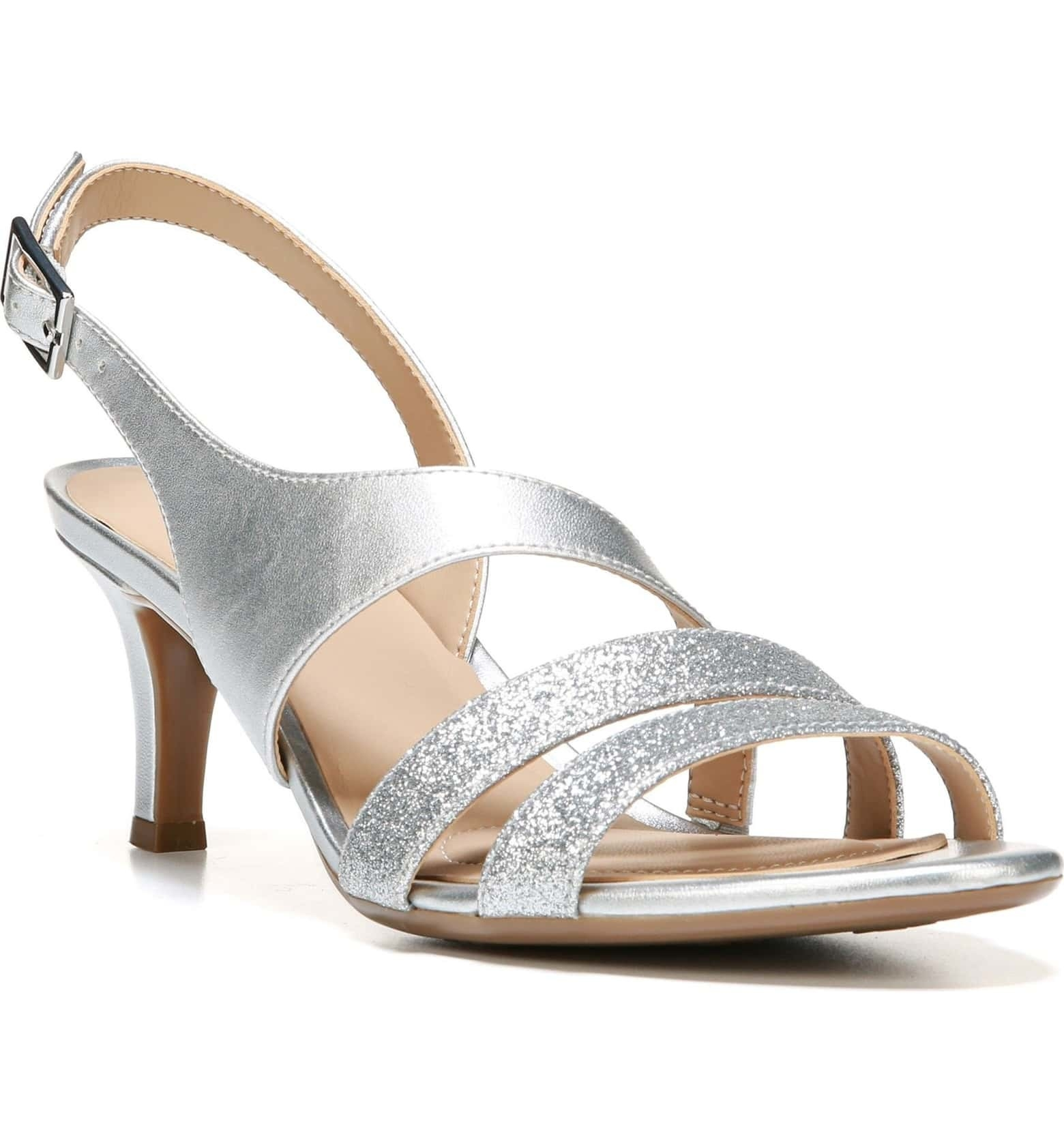 fc2aba73f33b Low-heeled (2.5-inch) strappy sandals that come in three widths and are  every bit as elegant as the sky-high options.
