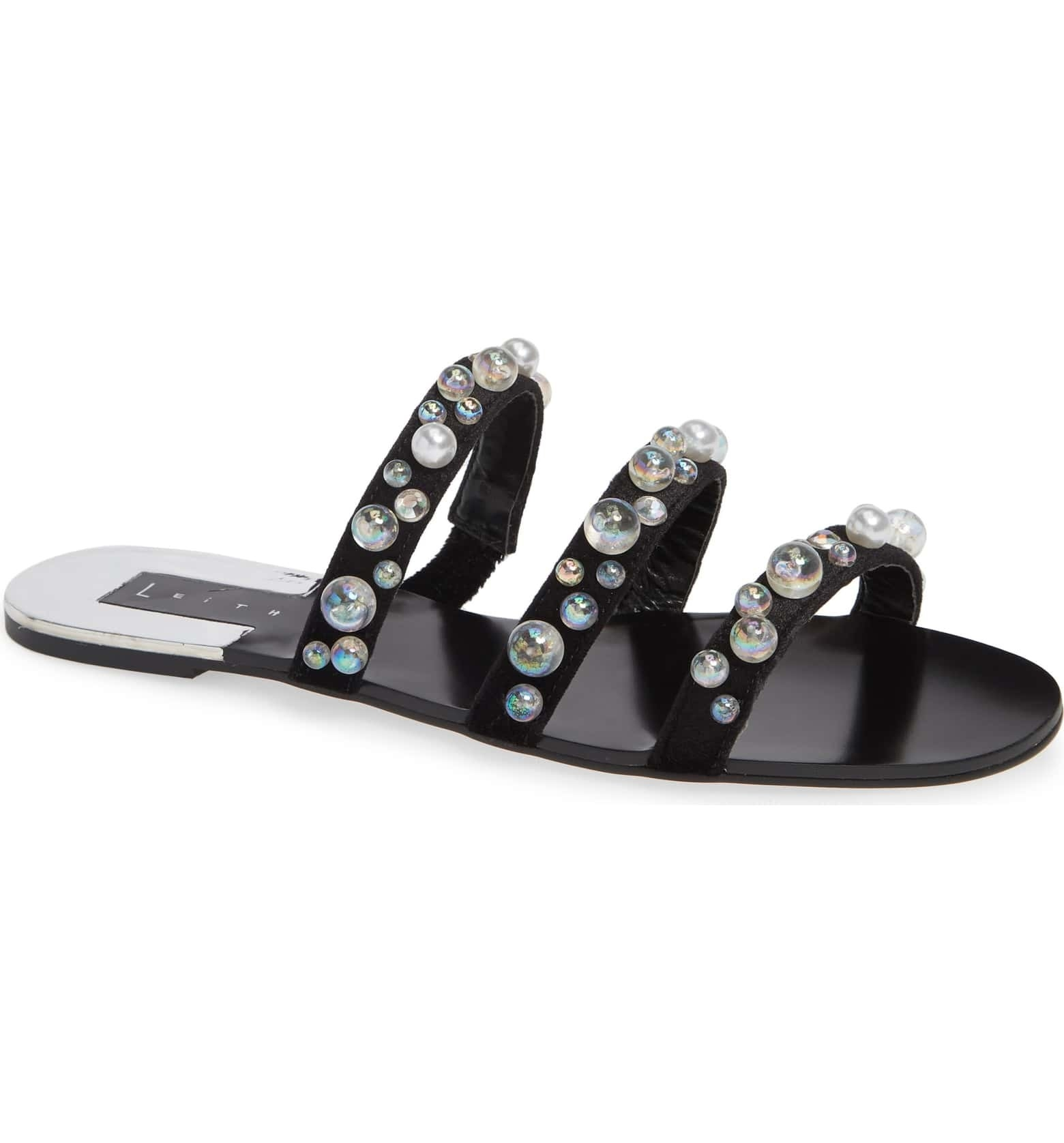 a6603830a5ba Sandals embellished with pearls that are simply heavenly and a must-have  for your warm weather wardrobe.