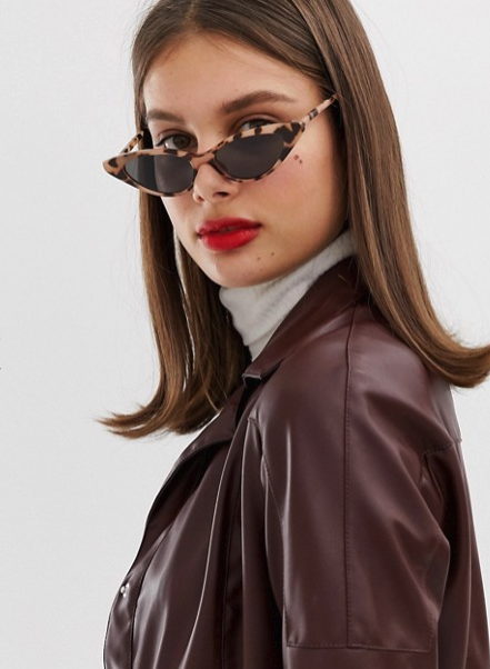 If people are still mocking tiny sunglasses in winter of 2019, then that's on them... more taste for you. Get it from Asos for $16.