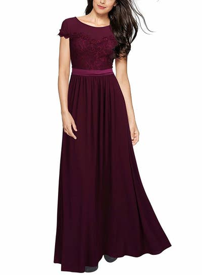 948b8a1e7c1 A belted high neck gown for anyone who wants to grasp the essence and  elegance of Kate Middleton. Amazon ...