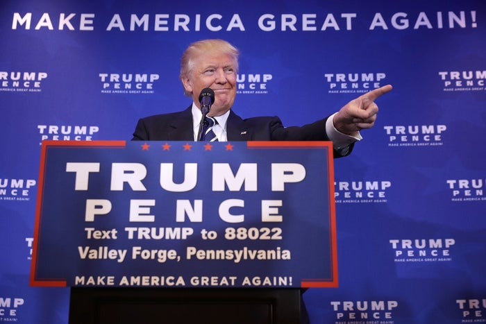 Then-candidate Donald Trump on the campaign trail on Nov. 1, 2016.