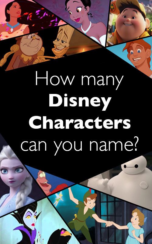 How many Disney Characters Can You Name?