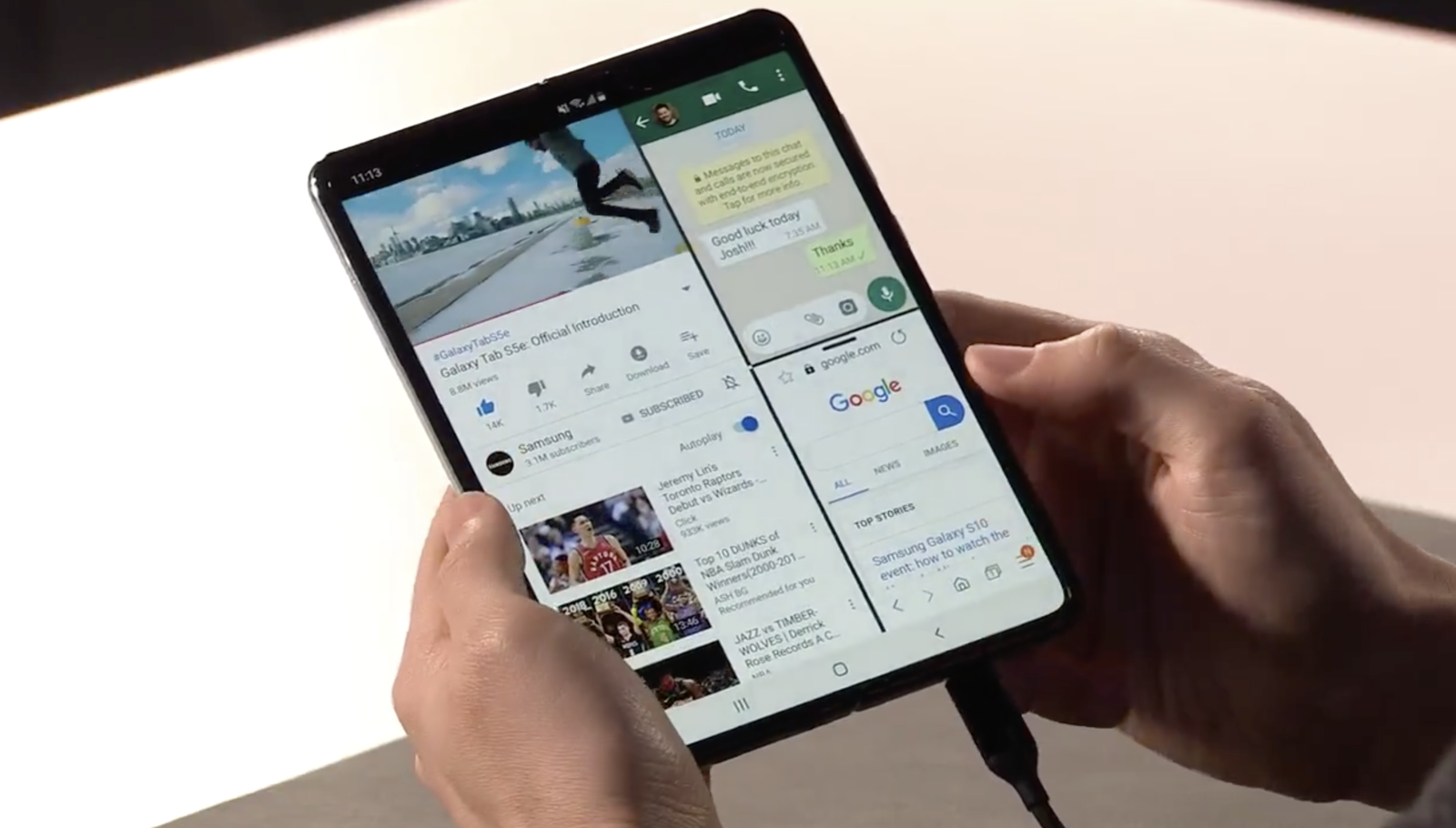 There's A $2,000 Foldable Samsung Phone Now, And People Have Thoughts