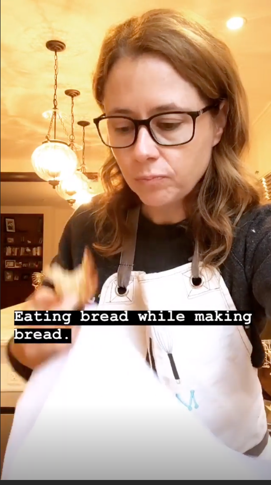 They're basically all Jenna talking about and making bread!