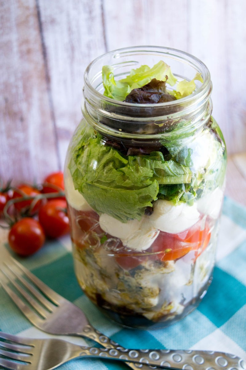 So you can finally use all of those Mason jars in the back of the cabinet. Recipe here.