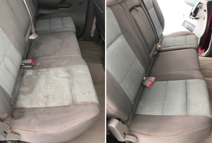 "Promising review: ""All their products are great! But this new product they have developed knocks it out of the ball park! The pictures above are of a 2007 Nissan Titan truck I was detailing for a customer. The seats were disgusting and stained. I CAN ASSURE YOU ALL I USED WAS CAR GUYS SUPER CLEANER to clean the seats. I simply sprayed Super Clean all over the seat until it was damp, I scrubbed with a detail brush, then vacuumed all of it up and dried it with a microfiber. The results speak for themselves. This really is a SUPER CLEANER that is capable of cleaning mostly every interior surface and does an amazing job at it."" —Joseph L.Get the cleaner plus a towel from Amazon for $16.99."