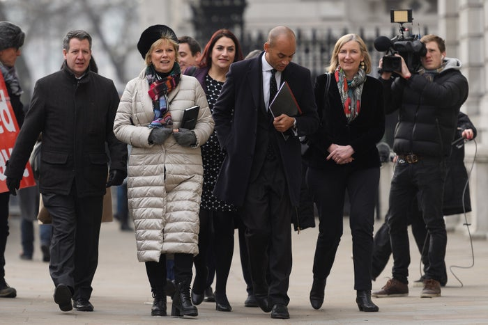 Independent Group MPs photographed before they broke away from their parties this week.