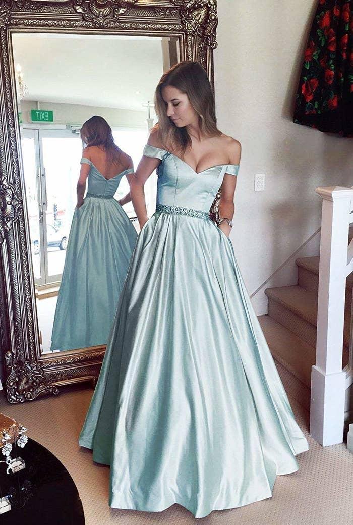 13fc4856afa A satin prom dress that ll make you look so much like Cinderella