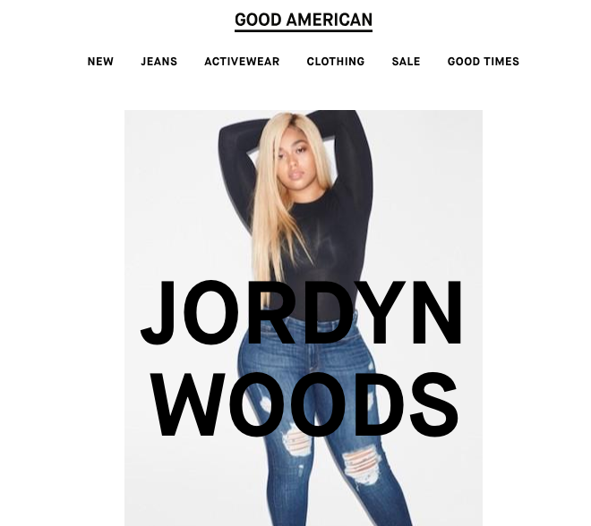 In fact, she is a model for Khloe's jean brand, Good American.