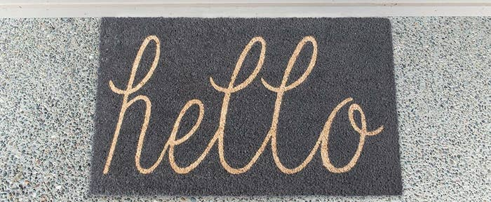A Hello Mat Which Is Definitely More Cute And Unique Than Typical Welcome Look At That Perfect Script