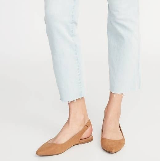 24810f78dca Faux suede slingback flats that have a cushioned footbed and can be worn  with anything in your closet. You ll definitely want more than one pair.