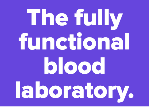 The fully functional blood laboratory.