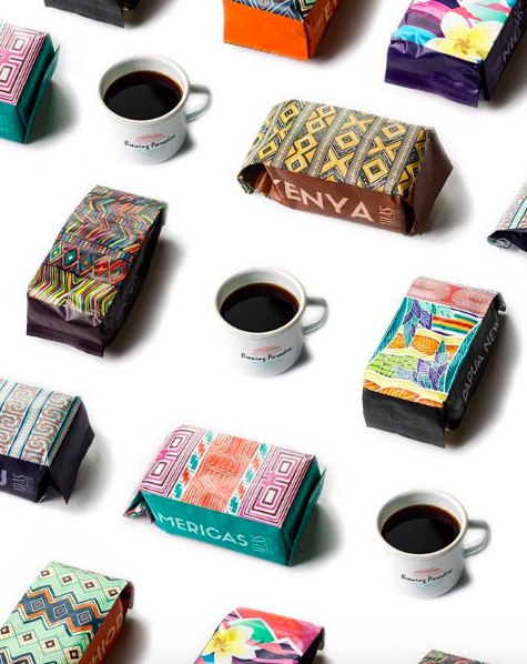 Styled product photo showing all different kinds of coffee