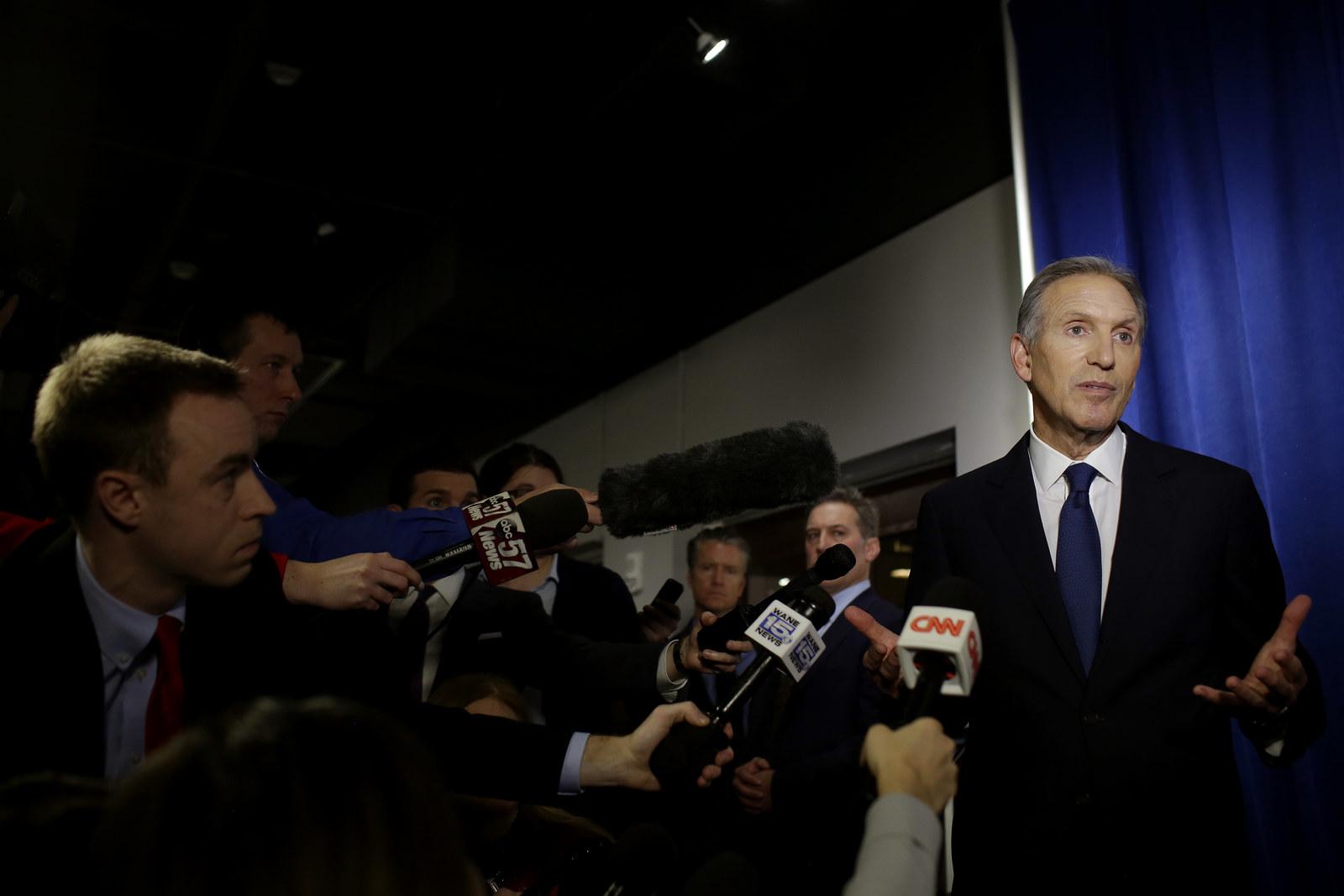 Opinion: Howard Schultz Wants A Billionaire's Veto Over The Primaries. Will Democrats Call His Bluff?