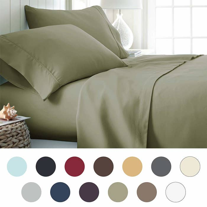 Lightweight Yet Durable Silky Soft Sheets That Ll Stay Nice And Snug Around Your Bed Even If You Re A Tossing Turning Sleeper