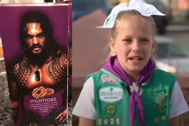 A Girl Scout Photoshopped Jason Momoa On Boxes Of Samoas And They