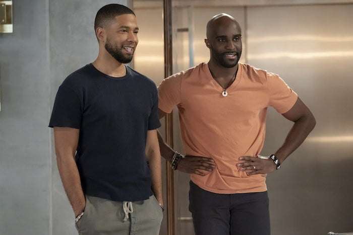 Jussie Smollett (left) with Toby Onwumere on Empire.