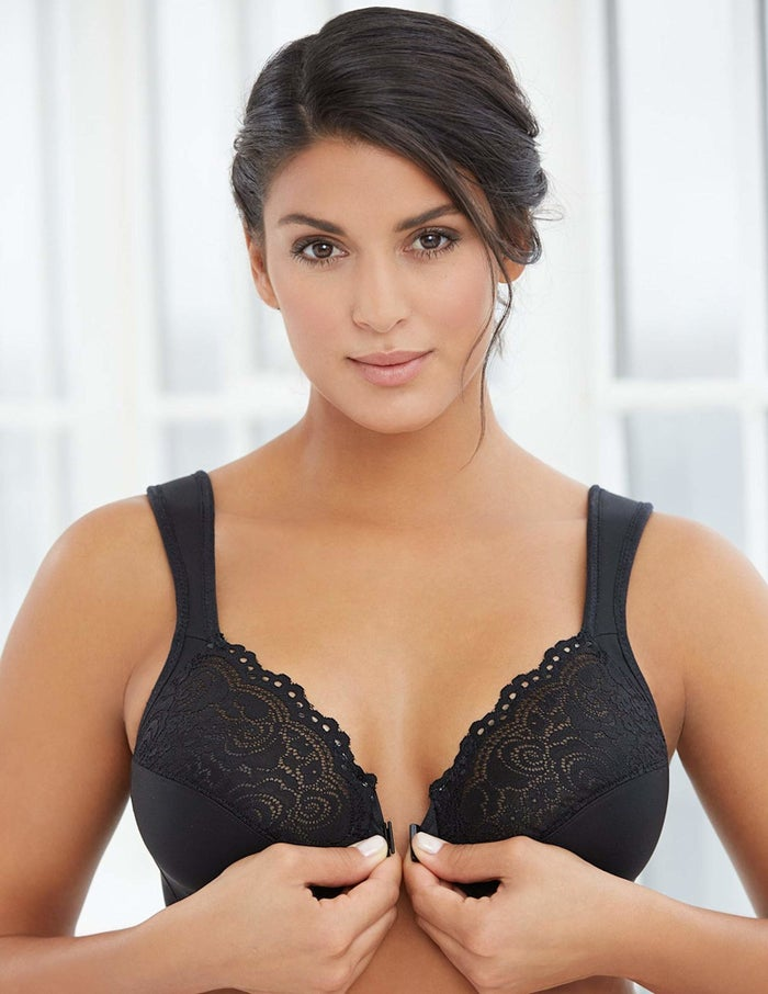"""ANDDD! Its hidden comfort band cradles your bust so the underwire never even touches your body. I. Call. WITCHCRAFT! Promising review: """"I cannot tell you how happy I was after the first day of wearing this bra. I have been wearing nothing but Cacique bras, because of the support that help prevent back pain and thought I was stuck with the heavy, squeaky, padded bras with straps that constantly slid off my shoulders. This bra has cushioned straps that stay in place, give great support, and are super comfortable, but the best part is it makes me look so good! Please never stop making this bra!!! More color options would be wonderful."""" —Amazon CustomerGet it from Amazon for $22.94+ (available in sizes 34B-48H and in six colors)."""