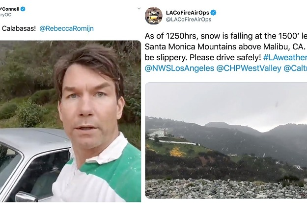 It Snowed In Los Angeles For The First Time In Years And People Freaked Out