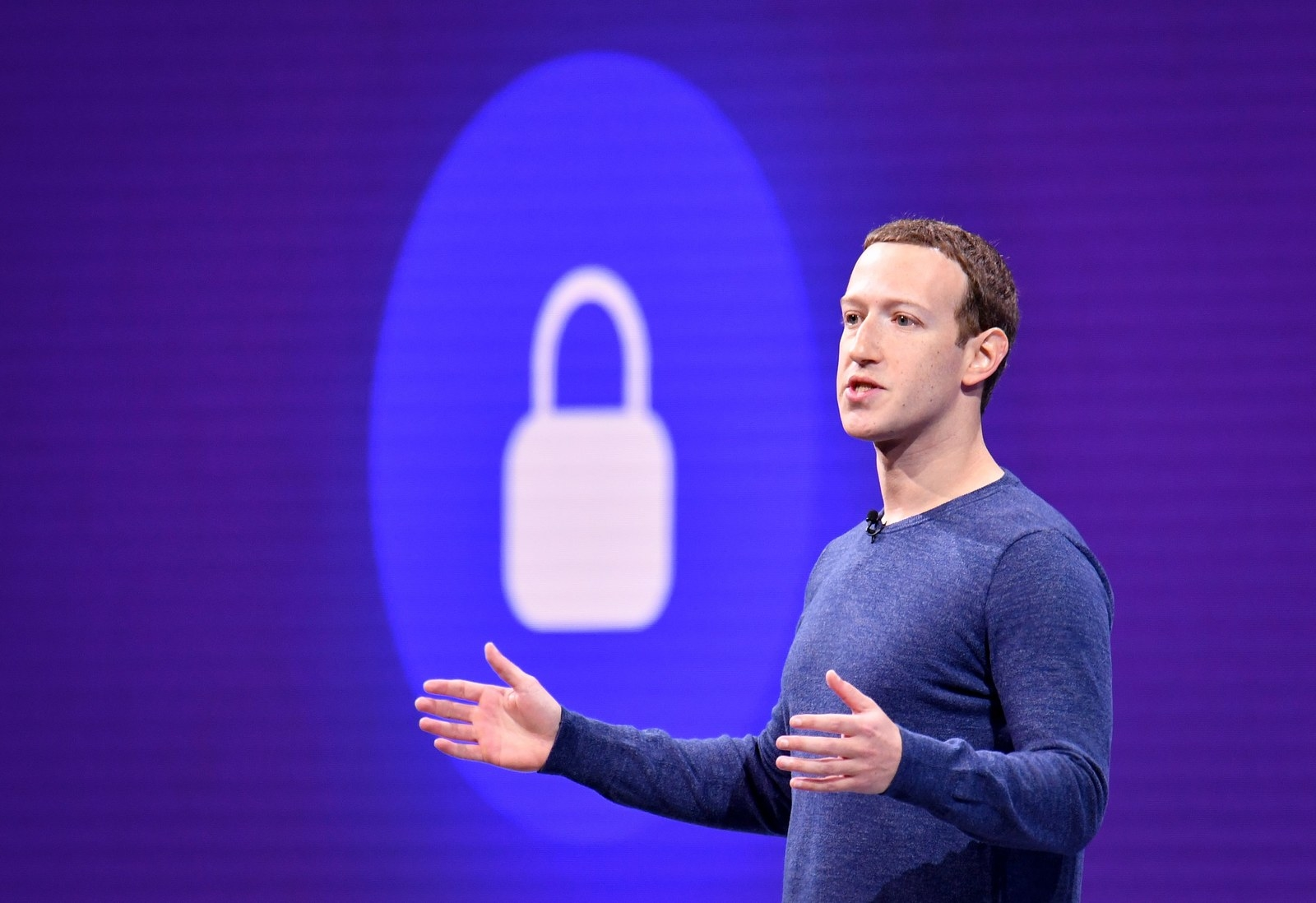 Facebook CEO Mark Zuckerberg speaks during the annual F8 summit in San Jose, California, last May.