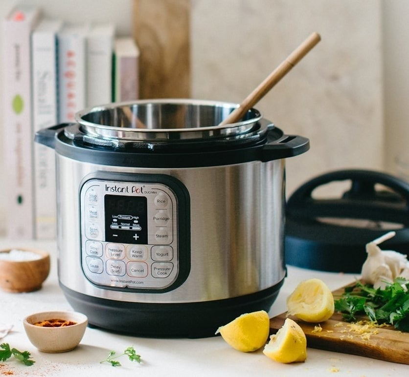 """This Instant Pot is basically seven kitchen tools in one! It can be used as a pressure cooker, rice cooker, steamer, yogurt maker, cake maker, and warmer! It can also sauté, because #fancy.Promising review: """"This is quite possibly the coolest, most versatile kitchen gadget I've ever owned. I love it so much that I've purchased two more for friends and relatives. What can it do? I think the real question is 'What can't it do?' I truly believe you could replace every cooking appliance (including your oven and stove top) and do EVERYTHING in the Instant Pot. I purchased two sizes for my own use: the three-quart (which is my almost-every-day workhorse for two person dishes) and the eight-quart (which I bring out to handle my dinner party dishes). Everything I've tried has been fabulous. In the realm of kitchen appliances, there is no better investment than the Instant Pot."""" —StereomanGet it from Amazon for $89.99. Check out a BuzzFeeder's review of the Instant Pot!"""