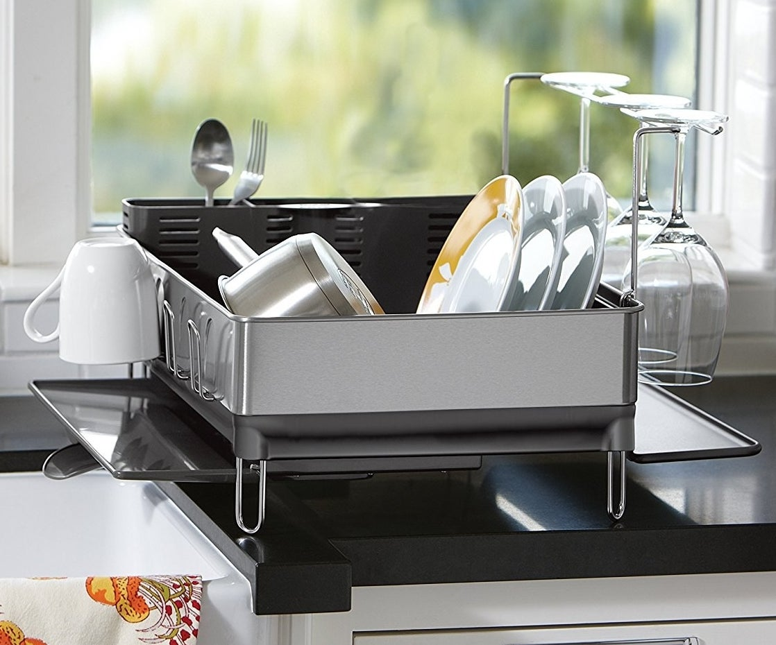 the stainless steel dish rack
