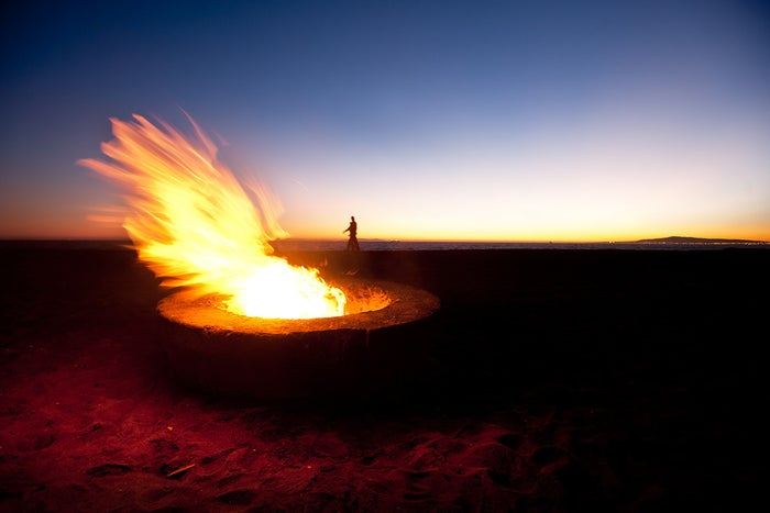 The biggest draw at Dockweiler State Beach is definitely the fire pits. The beach has 40 fire pits that you can snag on a first-come, first-served basis. You'll want to arrive early, as lots of people claim the fire pits for cookouts or general chillaxing.Address12000 Vista del MarPlaya del Rey, CA 90293ParkingParking lots and street parking are available from 6 a.m. to 10 p.m. Winter rates are $6 on weekdays and $8 on weekends. Summer rates are $8 on weekdays and $13 on weekends. The first 300 vehicles each day pay $3 on weekdays and $5 on weekends.