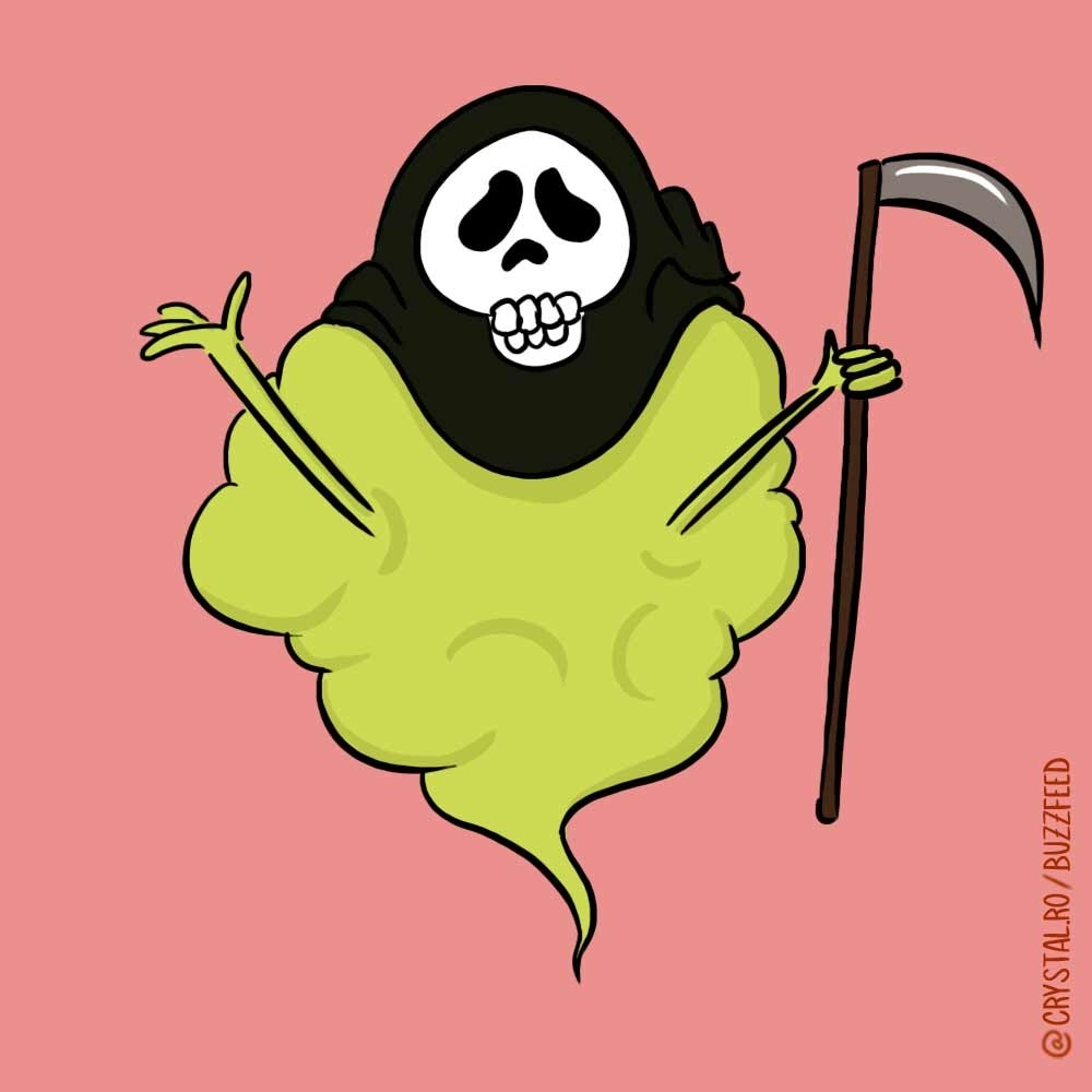 """This gas monster is the most deadly, toxic, """"OMFG what id going on inside my body?!"""" stinky period fart."""