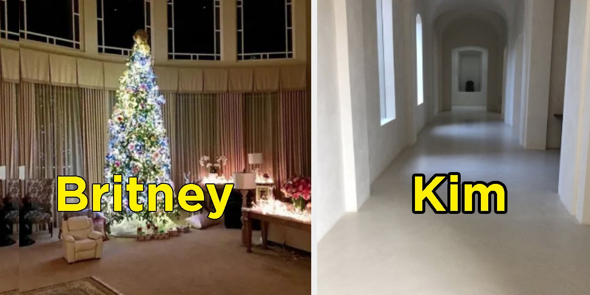 Kim Kardashian Christmas House.These Pictures Show The Dramatic Difference Between Britney