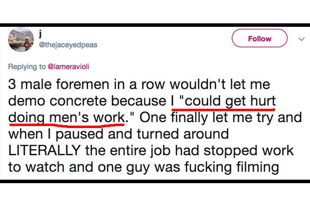 """Women Are Sharing Their """"Worst Stories About Working In A Male-Dominated Industry"""" On Twitter"""