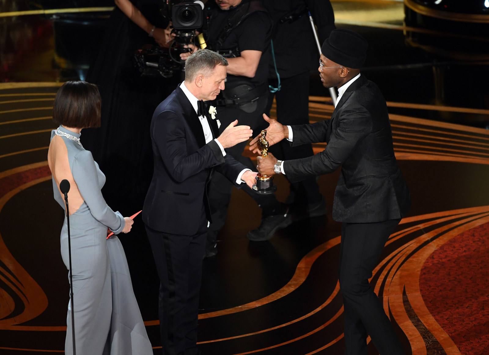 And to accept his award, my mans was wearing a Jinnah cap with his suit.