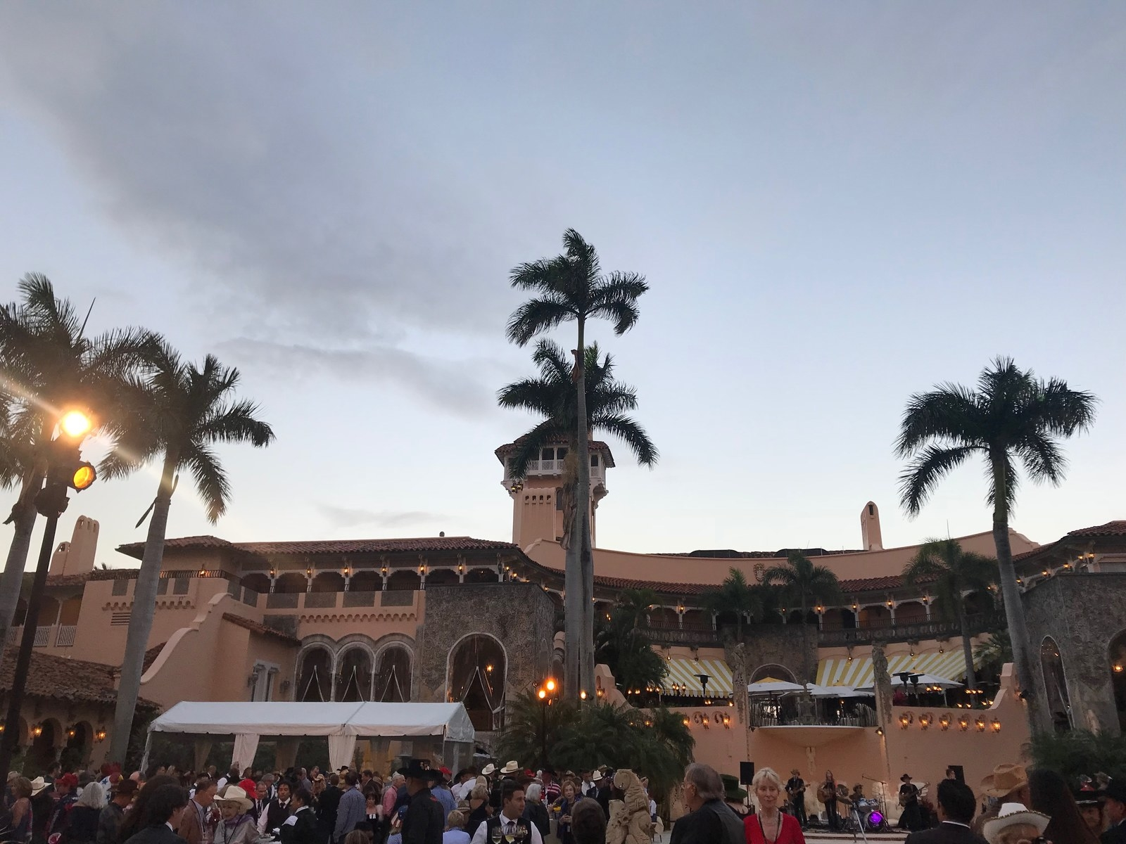 "Outside at the ""Country Comes to Mar-a-Lago"" party, Feb. 23."