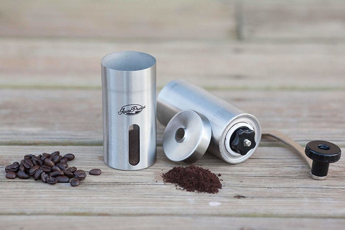 """Promising review: """"I've used the JavaPresse coffee grinder for a few weeks now. I like the feel of it when grinding coffee. I use the AeroPress and like a more coarse grind, so the adjustments make it great for that. I've found that filling the top portion full of coffee beans is the perfect amount to brew a single cup of coffee. Should have purchased this grinder a long time ago."""" —MikePrice: $25.99"""